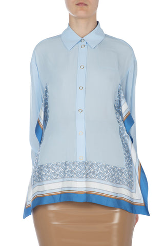 Burberry Frill Detail Printed Shirt
