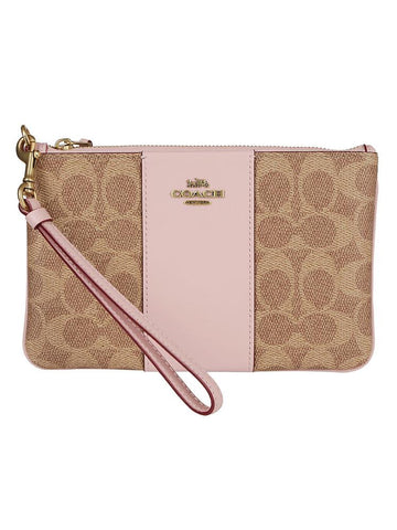 Coach Logo Embossed Pouch