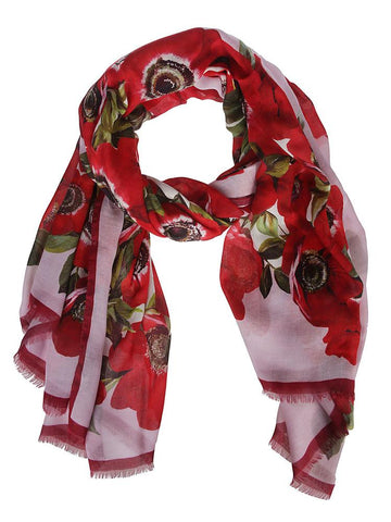 Dolce & Gabbana Floral Printed Scarf