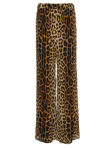 Moschino Leopard Print Pants