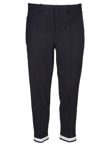 Neil Barrett Contrast Hem Trousers