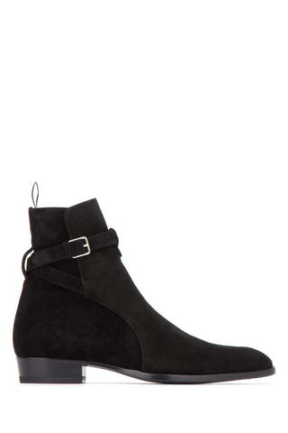 Saint Laurent Wyatt 30 Jodhpur Leather Boots
