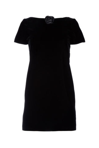 Saint Laurent Straight-Cut Velvet Dress