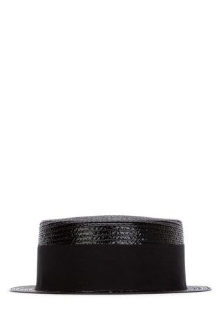 Saint Laurent Grosgrain Band Boater Hat