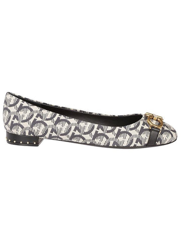 Salvatore Ferragamo All-Over Logo Ballerina Flats