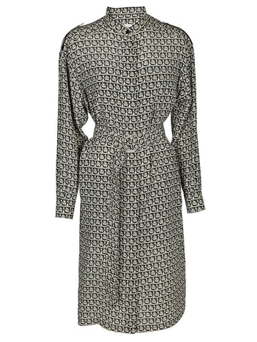Salvatore Ferragamo Belted Midi Dress