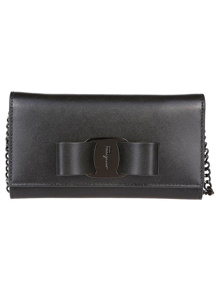 Salvatore Ferragamo Bow Chain Strap Wallet