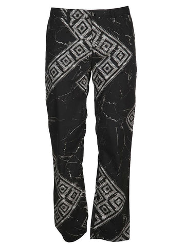 Versace Collection Logo Printed Slim-Fit Trousers