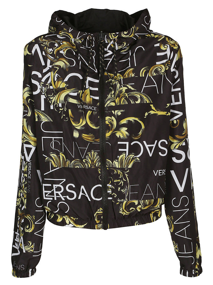 4bc7c81bf7 Versace Jeans Logo Printed Reversible Jacket – Cettire