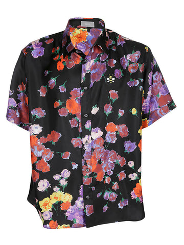 Dior Homme Floral Printed Short Sleeve Shirt