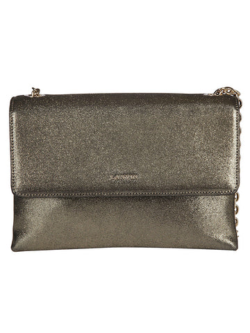 Lanvin Front Flap Metallic Shoulder Bag