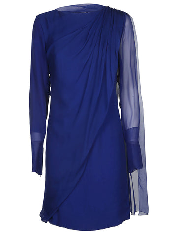 Lanvin Draped Overlay Mini Dress