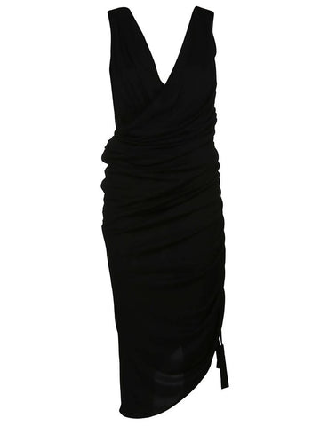 Lanvin Asymmetric Ruched Dress