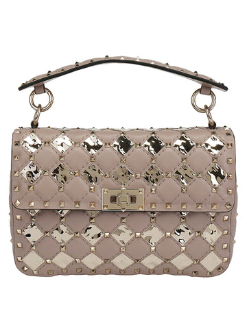 Valentino Garavani Rockstud Metallic Detail Shoulder Bag