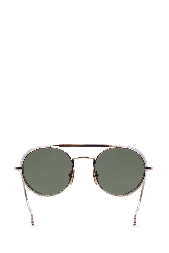 db640bfdcb1 Thom Browne Round Frame Gold Plated Sunglasses – Cettire