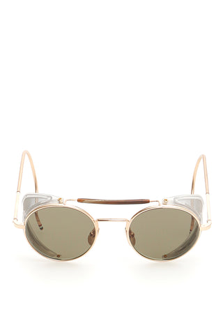 Thom Browne Round Frame Gold Plated Sunglasses