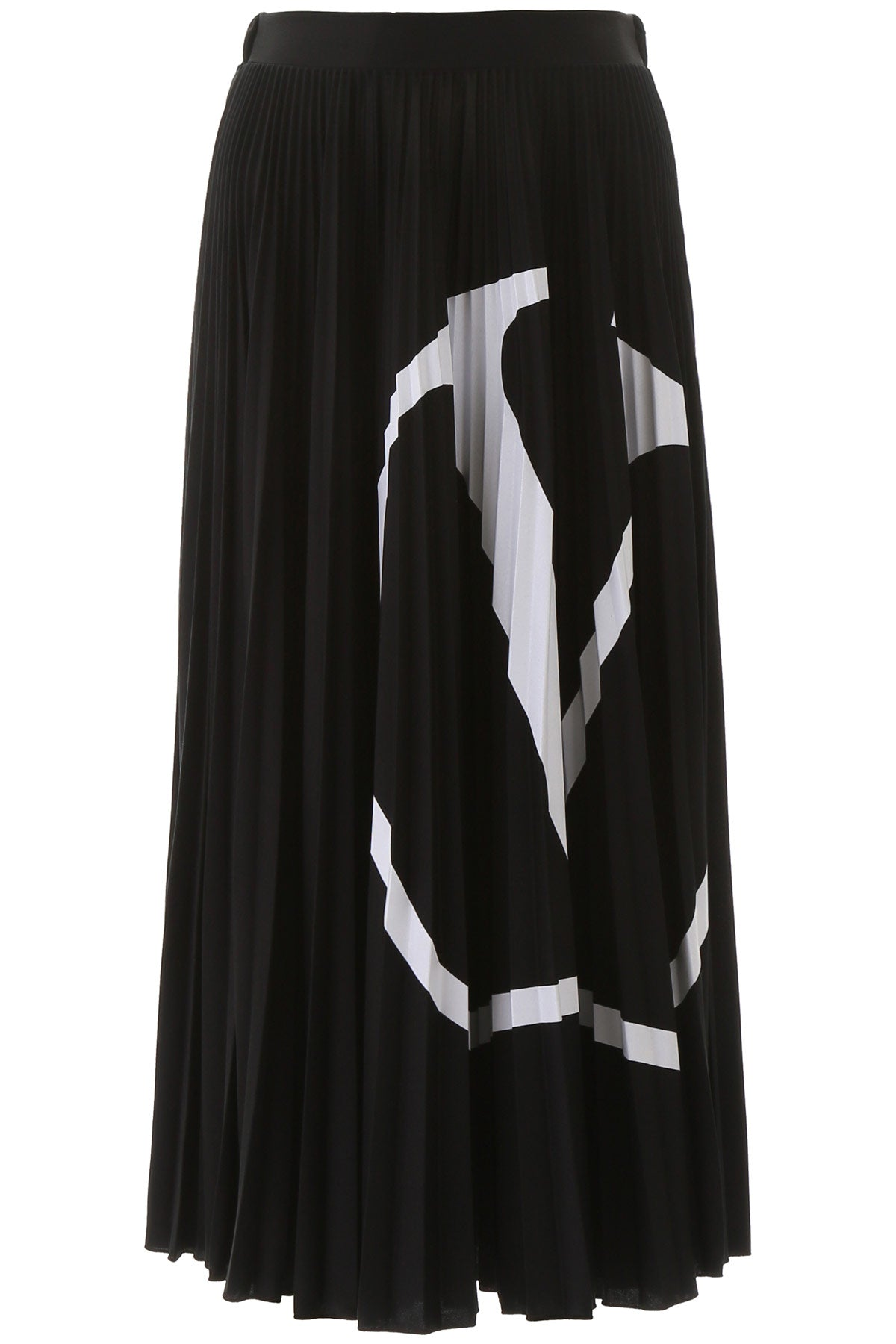 Valentino Skirts VALENTINO VLOGO PLEATED MIDI SKIRT