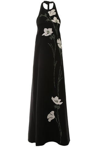 Valentino Floral Open Back Dress