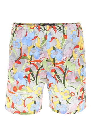 Prada Mixed Print Swim Shorts