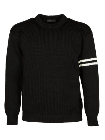Prada Stripe Sleeve Knit Sweater