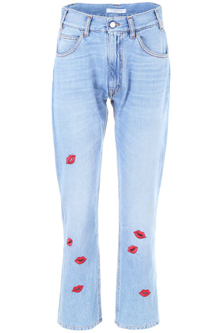 Vivetta Lips Printed Washed Out Jeans