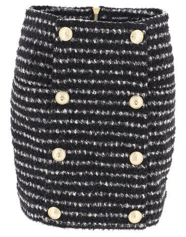 Balmain High-Rise Mini Skirt