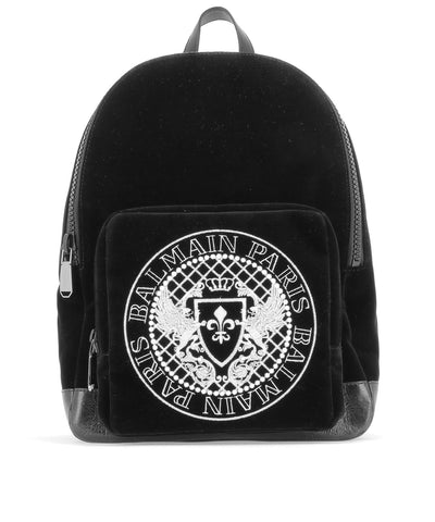 Balmain Logo Print Backpack