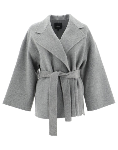 Theory Style Rose Belted Coat
