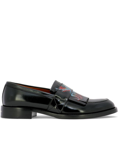 Givenchy Motif Leather Loafers