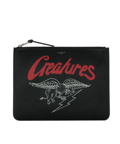 Givenchy Creatures Print Clutch Bag