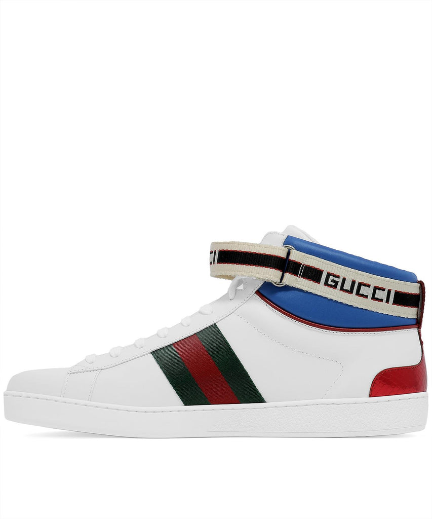 Aceweb gucci ace web high top sneakers