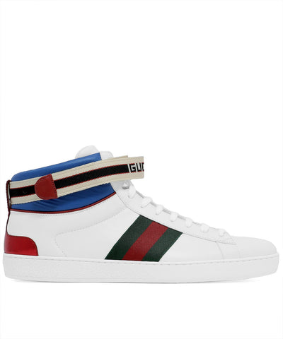 Gucci Ace Web High Top Sneakers
