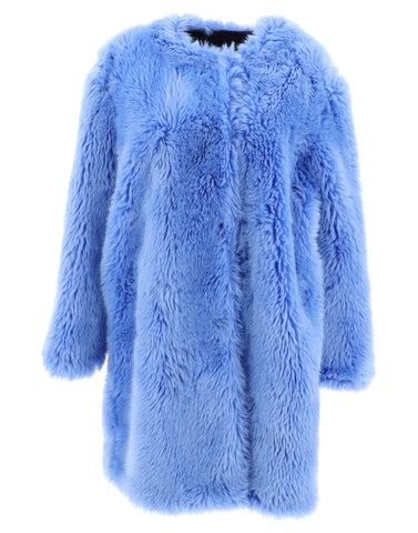 MSGM Faux Hair Long Coat
