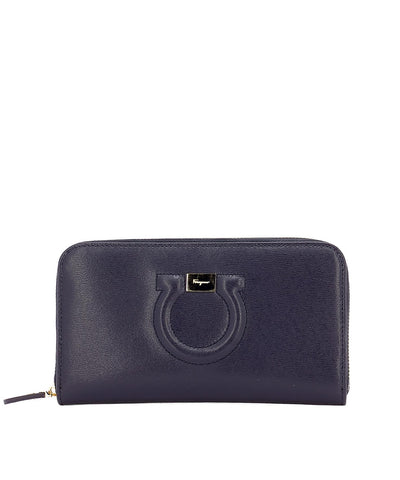 Salvatore Ferragamo Logo Zip Wallet