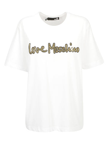 Love Moschino Logo Crewneck T-Shirt