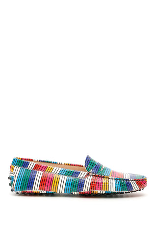Tod's Striped Slip-On Loafers