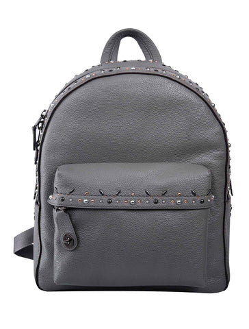 Coach Campus Embellished Leather Backpack