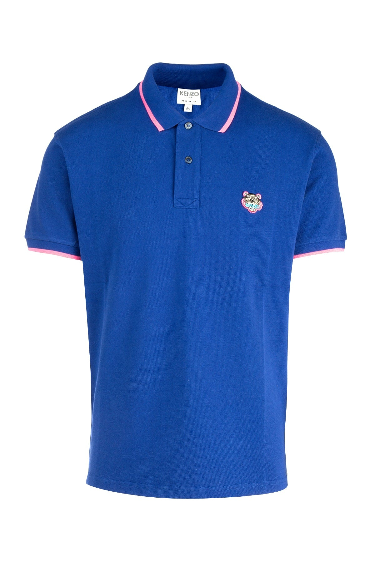Kenzo Tiger Crest Polo Shirt In Blue