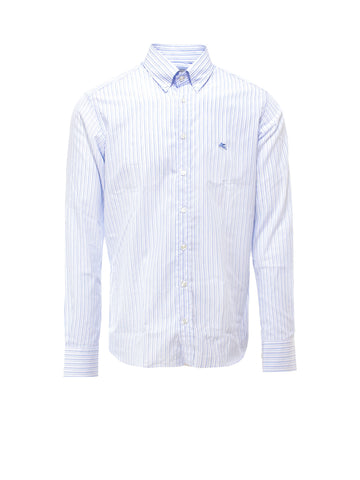 Etro Striped Logo Detail Shirt