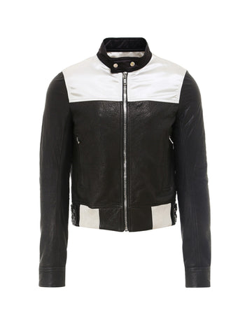 Rick Owens Colour Block Biker Jacket