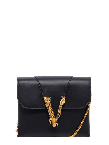 Versace Virtus Chain Clutch