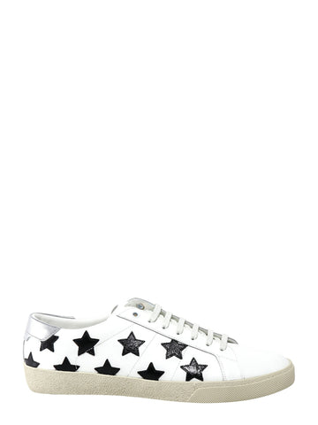 Saint Laurent Low Top Stars Print Sneakers
