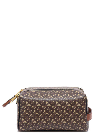 Burberry Monogram Print Travel Pouch