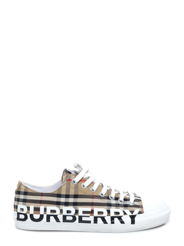 Burberry Logo Print Vintage Check Sneakers