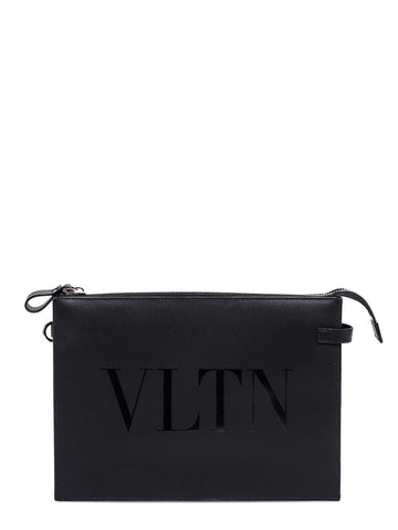 Valentino Garavani VLTN Zipped Clutch Bag