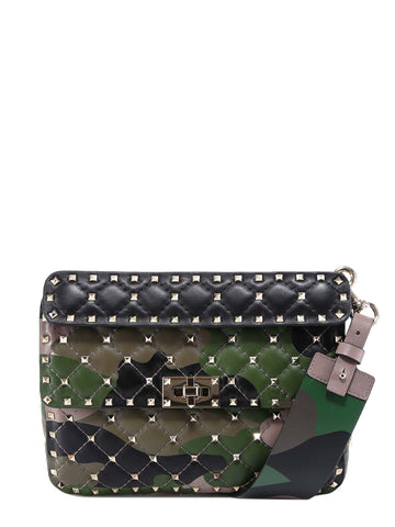 Valentino Garavani Spike.It Camouflage Bag