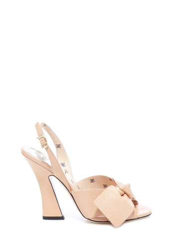 Fendi FFreedom Slingback Bow Detail Sandals