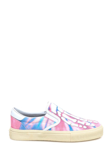 Amiri Skeleton Tie-Dye Slip-On Sneakers