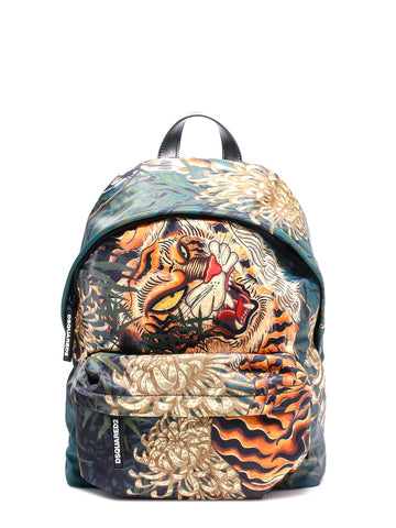 Dsquared2 Tiger Printed Backpack