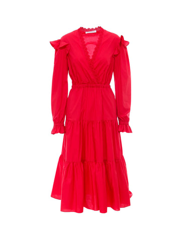 Philosophy Di Lorenzo Serafini Frill Trim Tiered Dress